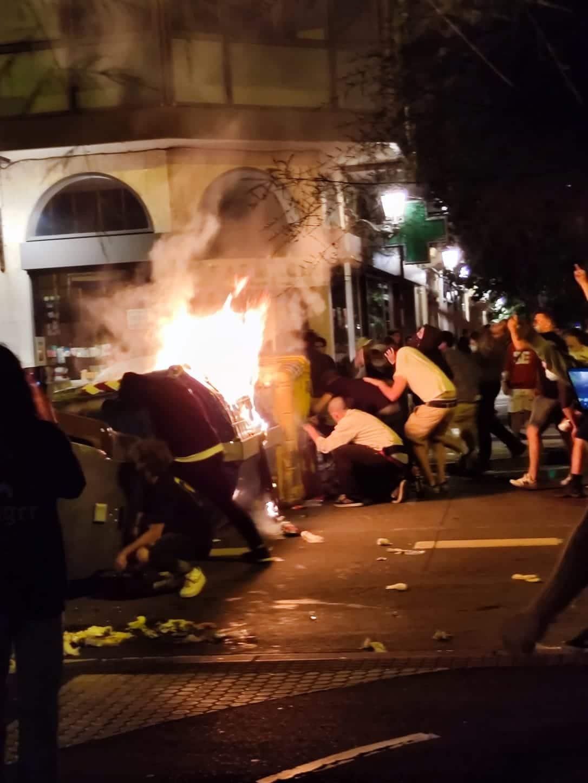 IMG 20210822 WA0003 - Disturbios, diez detenidos y escaparates rotos esta madrugada en Donostia