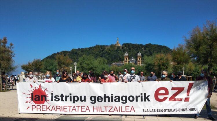 Manifestación en Donostia. Foto: LAB