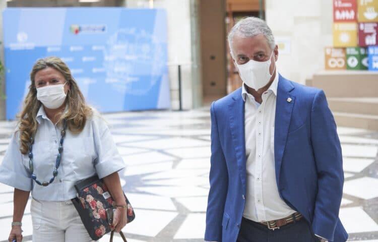 Sagardui y Urkullu hoy, antes de la reunión del LABI. Foto: Gobierno vasco