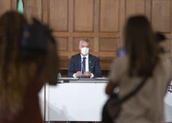 El lehendakari Iñigo Urkullu hoy en Donostia. Foto: Gobierno vasco