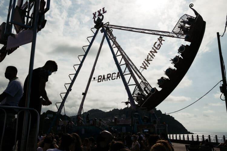 El Barco Vikingo, una de las atracciones más buscadas. Fotos: Santiago Farizano