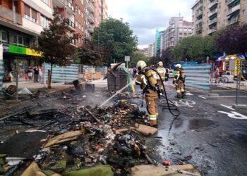 Incendio en la Avenida Isabel II el pasado 23 de agosto. Fotos: Santiago Farizano