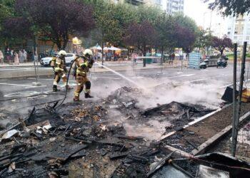 Incendio en Isabel II. Fotos: Santiago Farizano