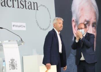 José Sacristán, hoy, recogiendo en Premio Nacional de Cinematografía en Donostia. Foto: Ministerio de Cultura