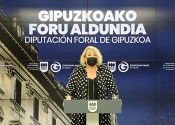 Aintzane Oiarbide hoy en la Diputación. Foto: Diputación