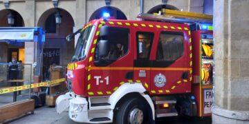 Fuego en el Astehelena. Foto: Bomberos de Euskadi
