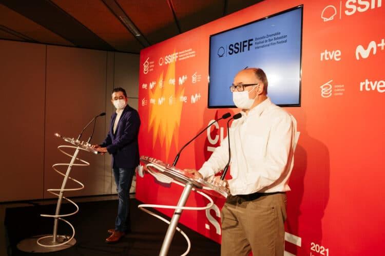 Presentación a cargo de José Luis Rebordinos y Joxe María Aizega de Culinary Zinema. Foto: Santiago Farizano