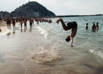 Playa de la Concha este pasado lunes. Fotos: Santiago Farizano