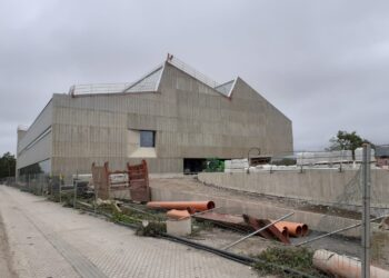 Polideportivo de Altza en obras. Foto: EH Bildu