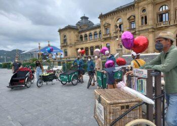 Salida de la ruta de las cargo bikes con motivo de la Semana de la Movilidad. Foto: A.E.