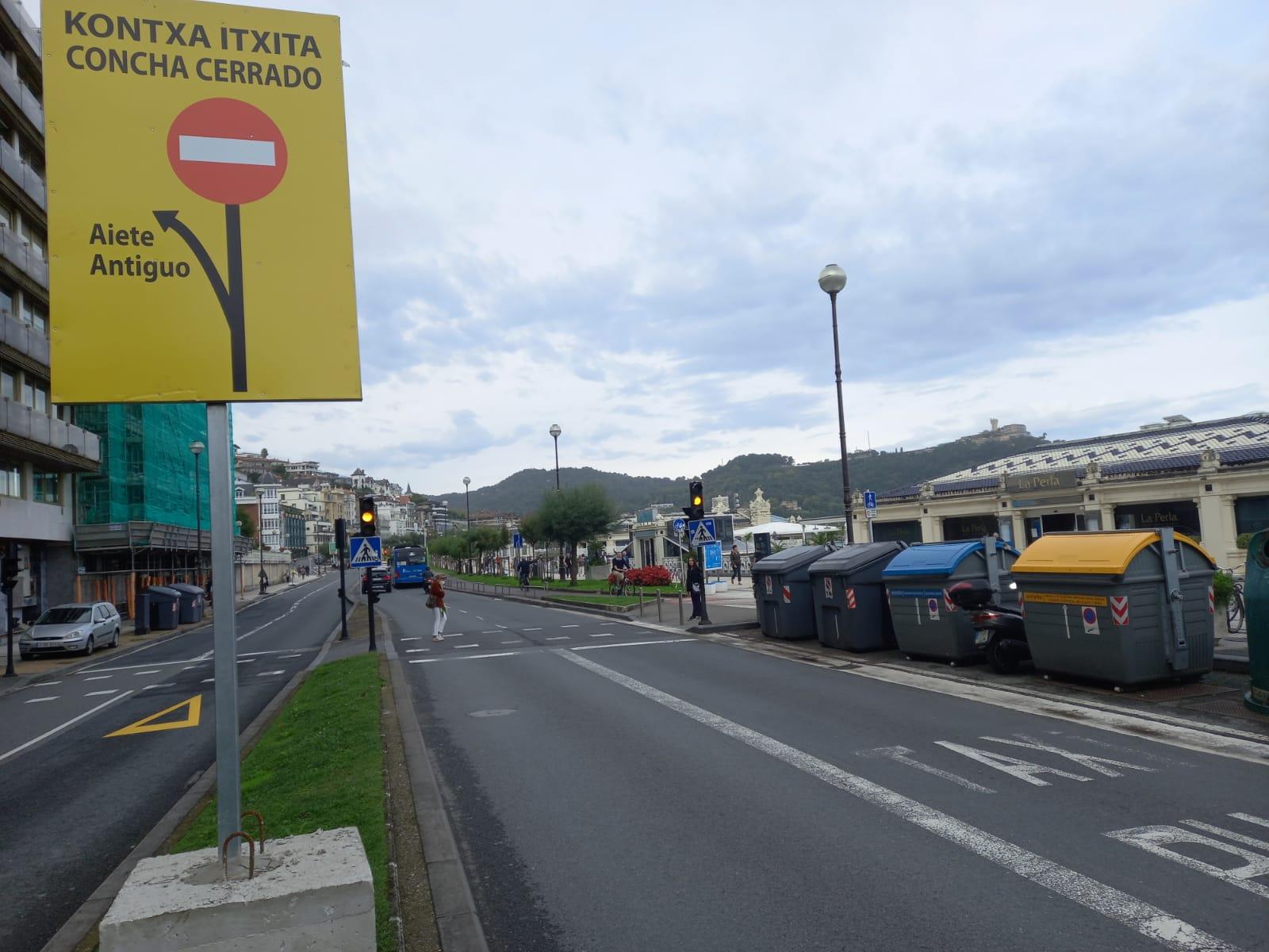 cierre1 - El Paseo de la Concha ya está cerrado a los coches