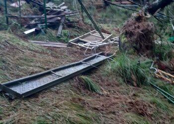 Destrozos en los puestos de Jaizkibel. Foto: Galepertarrak Elkartea
