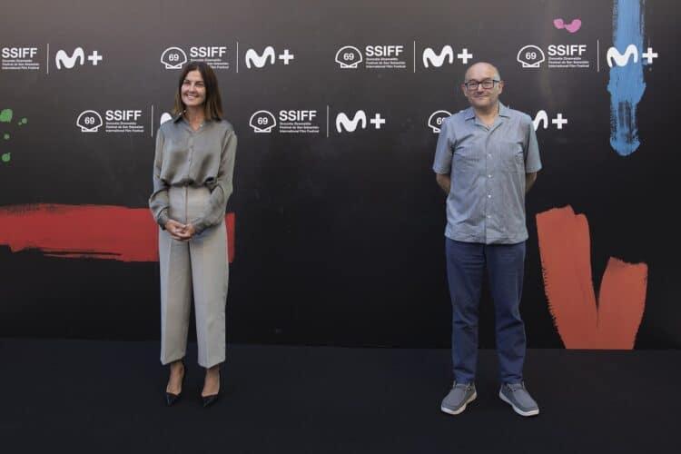 Cristina Burzako, CEO de Movistar+, y José Luis Rebordinos, director del Festival de San Sebastián. Foto: Zinemaldi