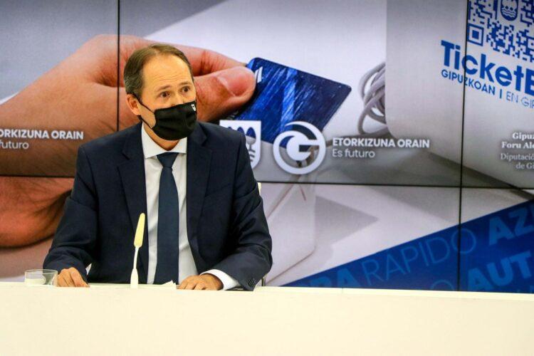 El diputado foral de Hacienda y Finanzas, Jokin Perona. Foto: Diputación