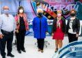 Representantes de Agifes en la Diputación con motivo de la cercanía del 10 de octubre. Foto: Diputación