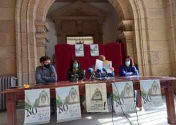 Rueda de prensa de Áncora con apoyo del PP donostiarra, EH Bildu y Elkarrekin Donostia. Foto: A.E.