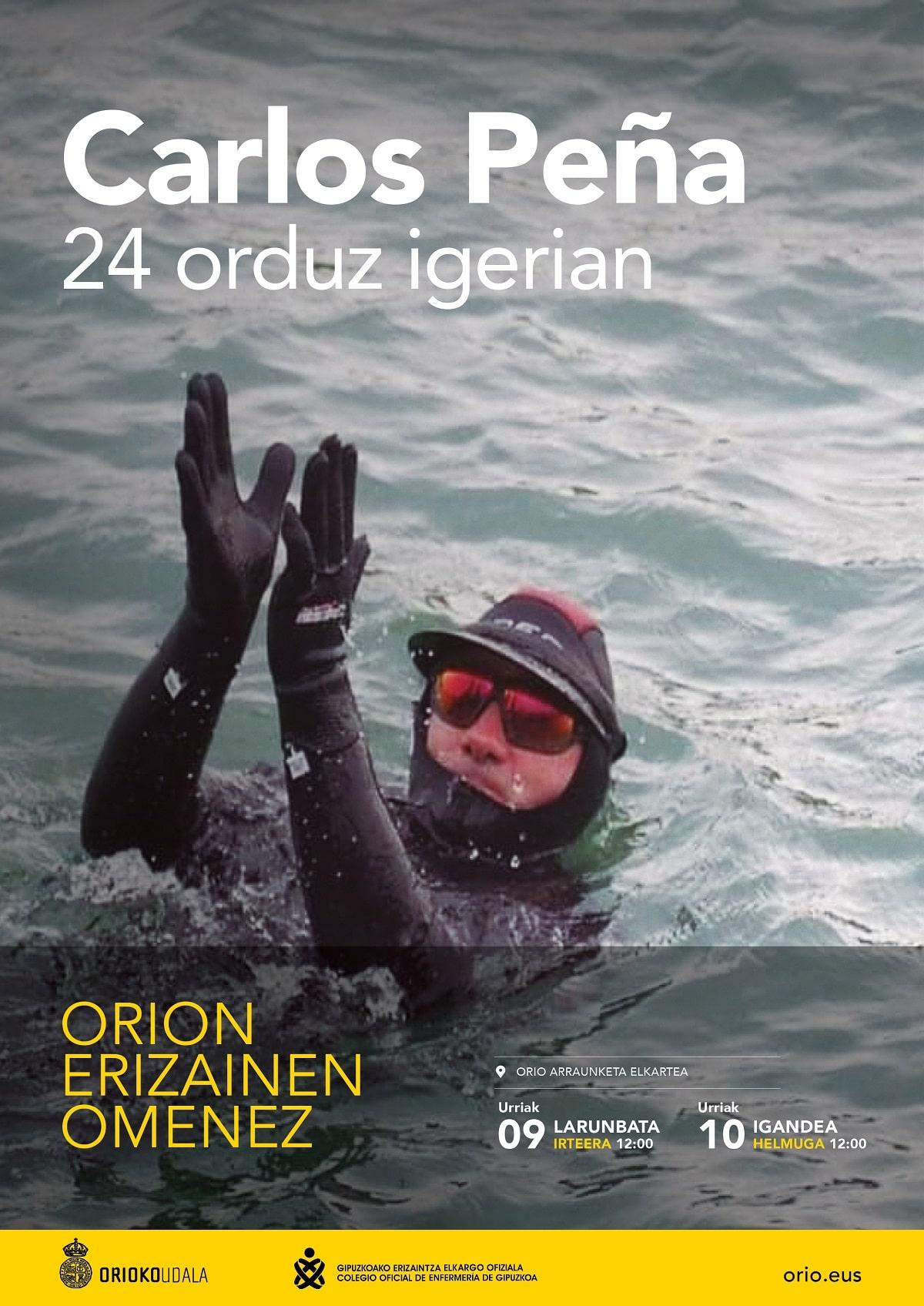 CarlosPena1 - Carlos Peña nadará 24 horas en homenaje a las enfermeras gipuzkoanas
