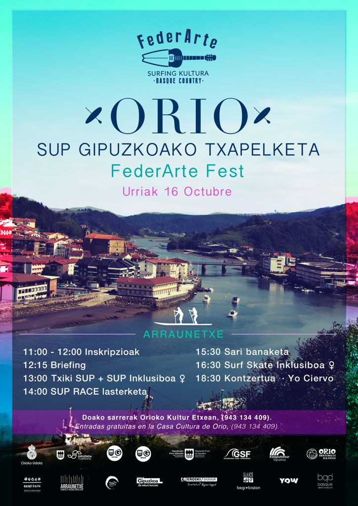 Cartel Orio 2021 - Orio albergará el SUP Gipuzkoako Txapelketa el 16 de octubre