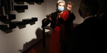Carme Pinós hoy en la inauguración de la Bienal de Arquitectura Mugak. Fotos: Santiago Farizano