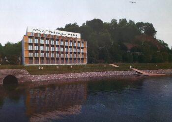 Imagen de EH Bildu con la proyección del hotel que estaría previsto en Antondegi. Foto: EH Bildu