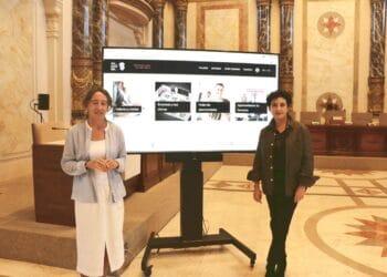 Presentación de la I Feria del Talento que se celebrará en el Kusaal. Marisol Garmendia y Kontxi San Juan de Viralgen. Foto: Ayto