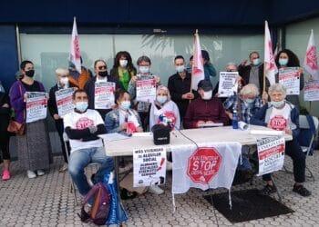 Stop Desahucios esta mañana. Foto: S.D.