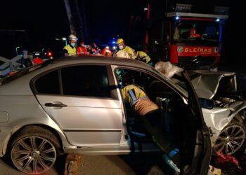 Accidente en Lezo. Foto: Bomberos de Euskadi