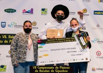 El Bar Ramuntxo Berri de Donostia ha sido el vencedor del VII Campeonato de Pintxos de Bacalao de Gipuzkoa. Foto: Campeonato de pintxos