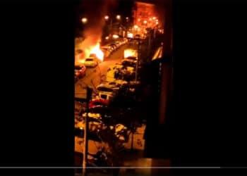 Imagen del vídeo de los bomberos de Euskadi (vía twitter).